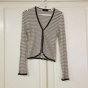 Zara stripe knit cardigan